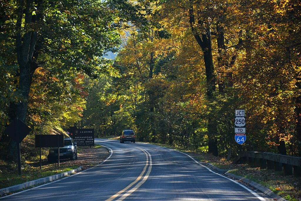Rockfish Gap on Skyline Drive