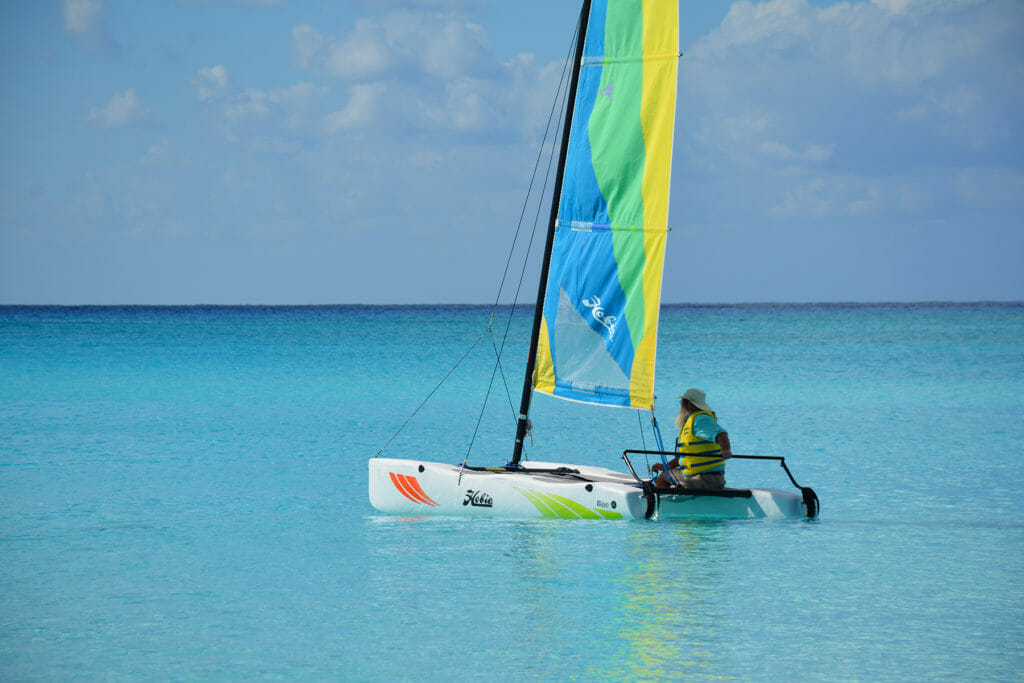 Hobie Cat at Half Moon Cay, Bahamas