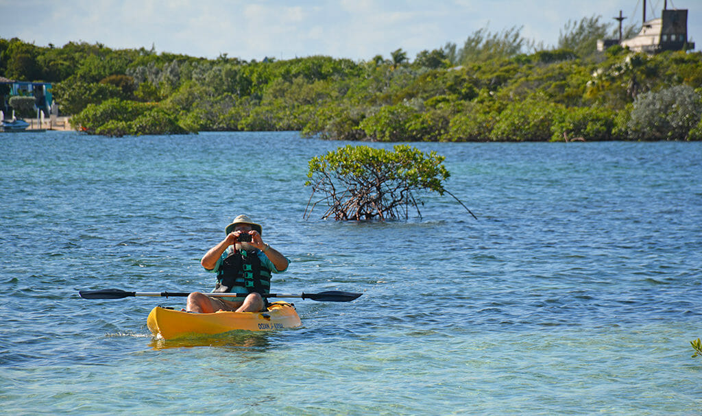 Kayaking Half Moon Cay