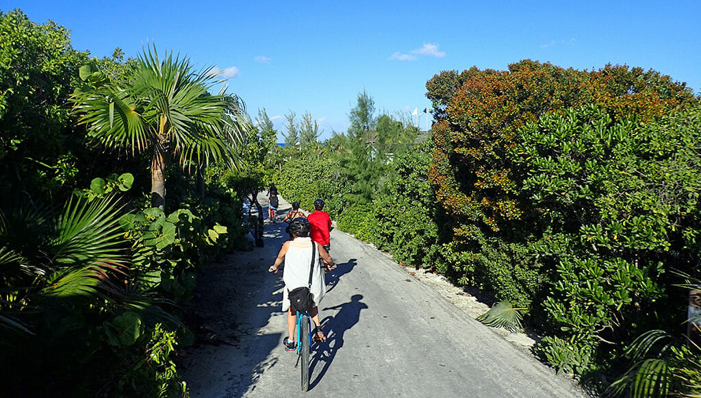 Biking Half Moon Cay