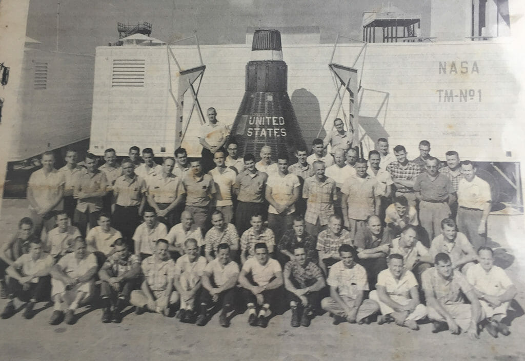 First manned space program team
