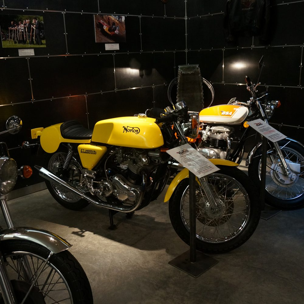 1970s Norton Commando and BSA