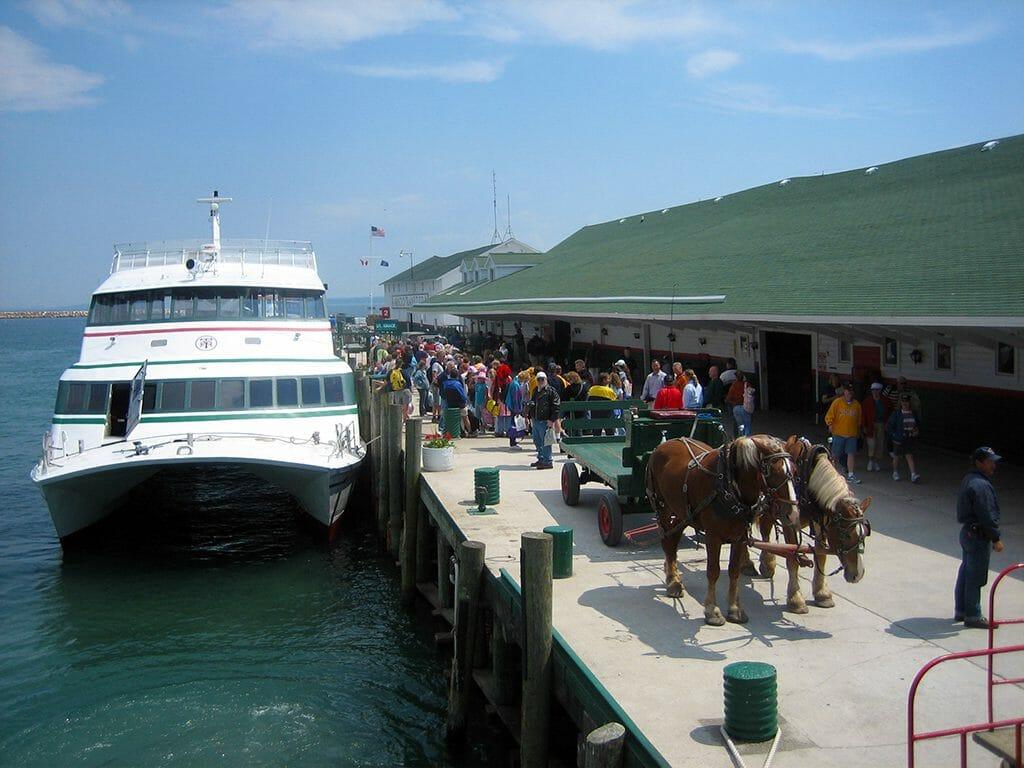 Mackinac Island dock