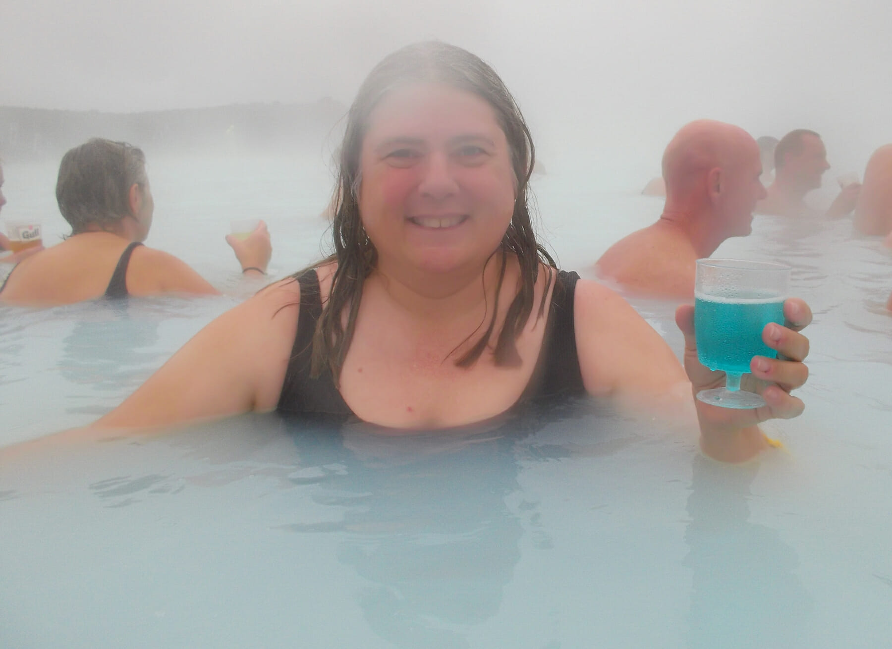 Soaking in Iceland's Blue Lagoon