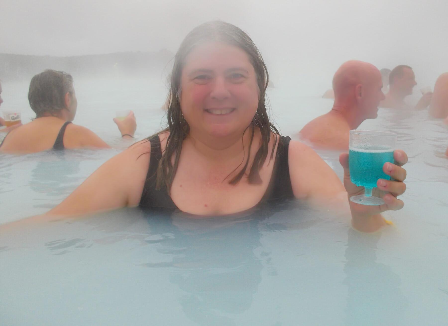 Soaking in Iceland's Blue Lagoon