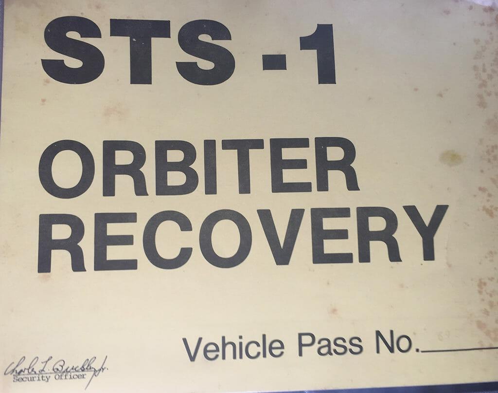 STS-1 vehicle pass
