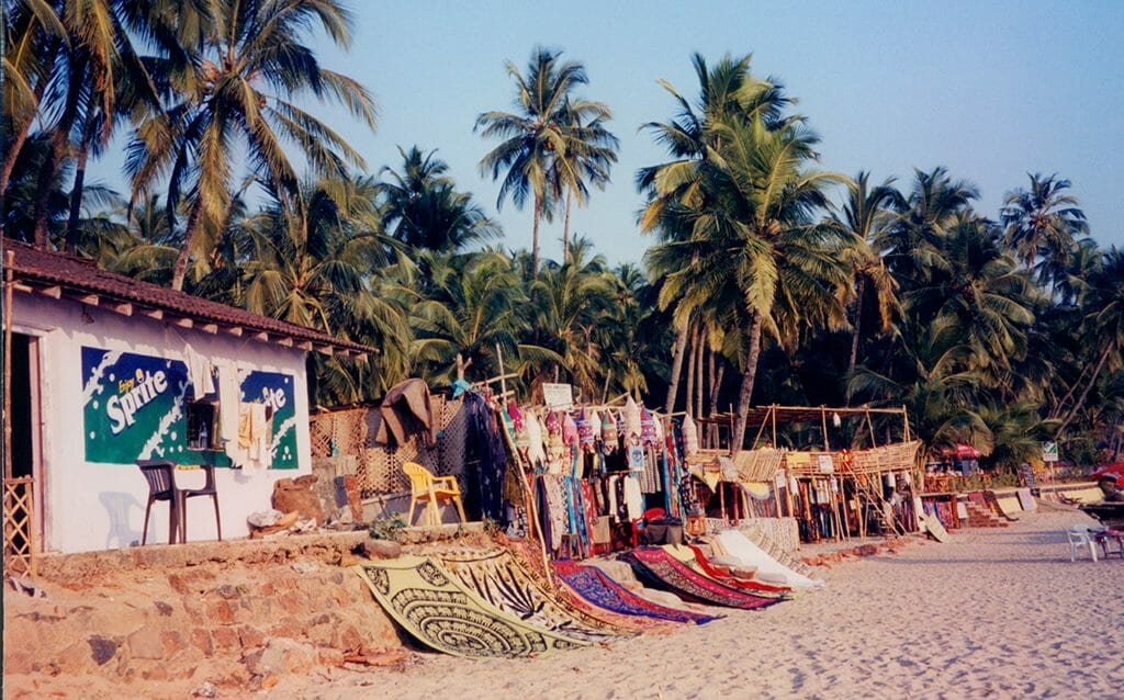 Wares for sale in Palolem