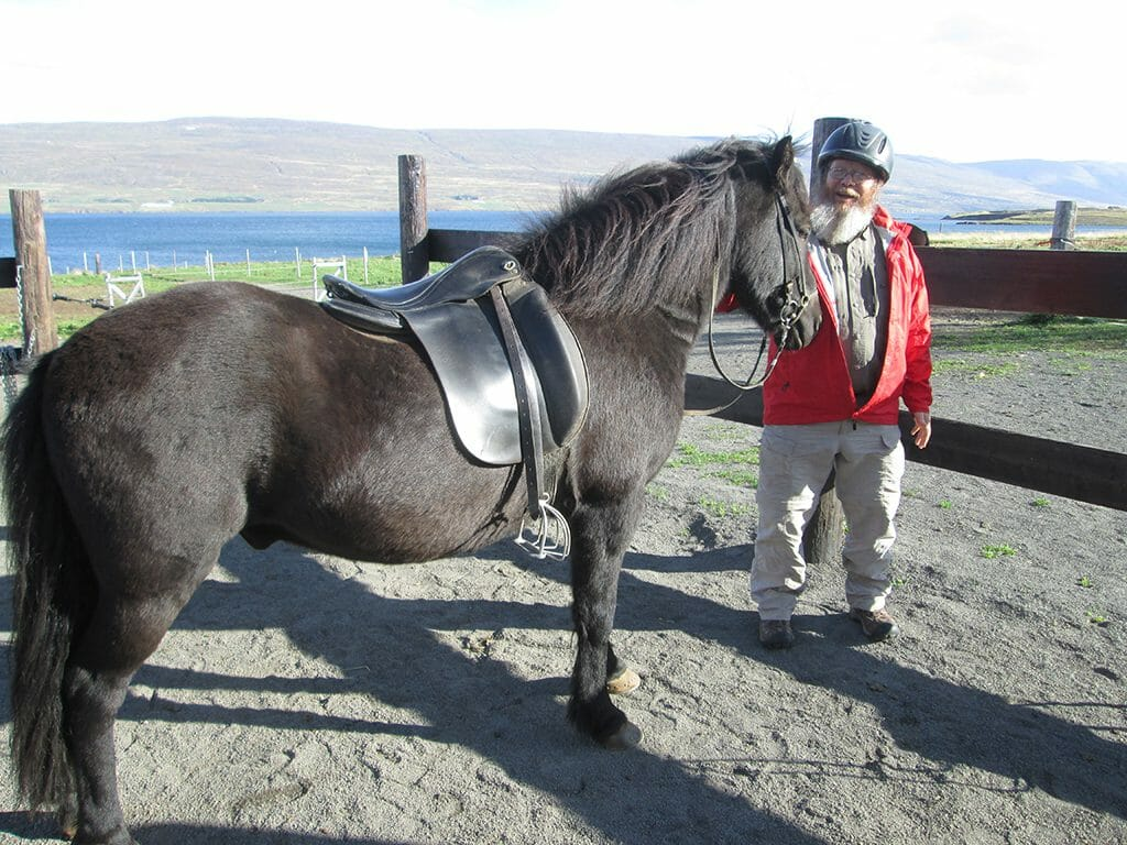 John and Icelandic horse