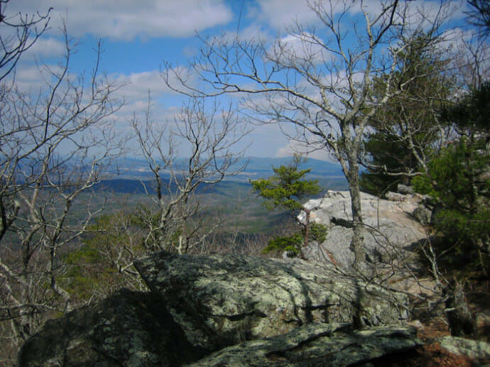 View from the Pinhoti Trail at Cheaha State Park, Alabama