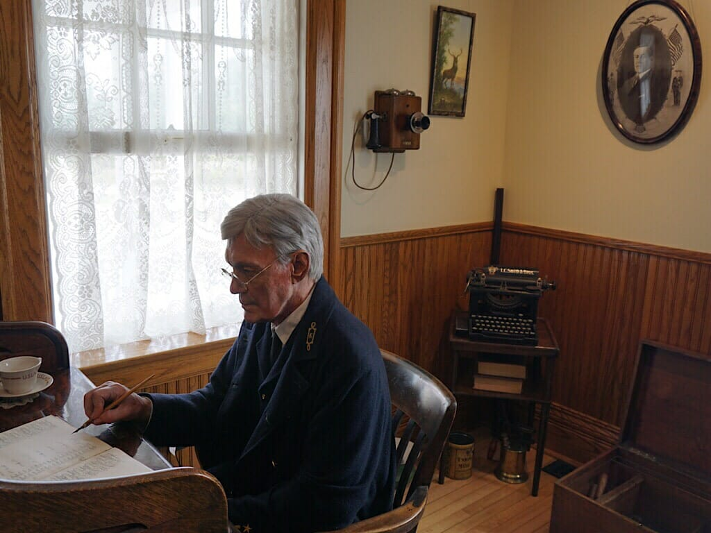 Inside the Lightkeeper's quarters at Whitefish Point