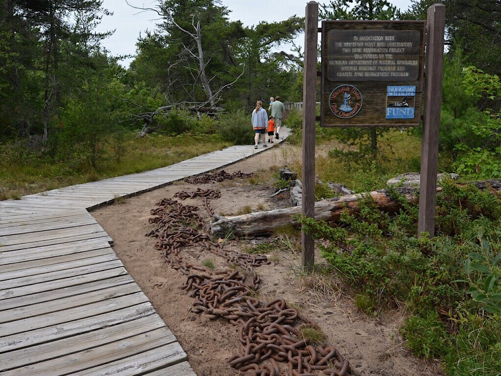 One of several nature trails at Whitefish Point