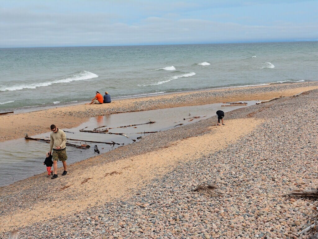 Agate hunters at Whitefish Point