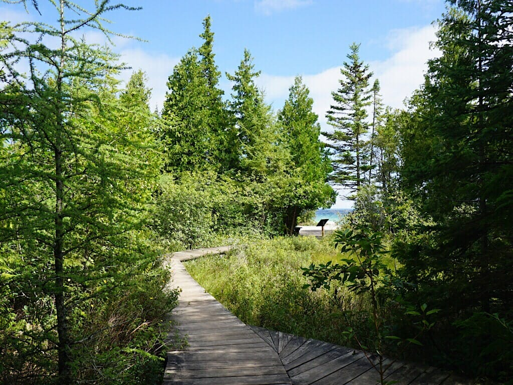 Nature trail on Mackinac