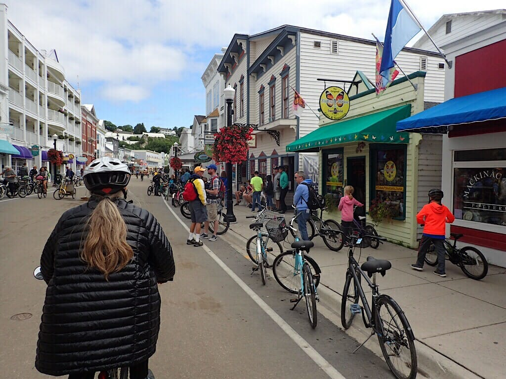 Riding Main Street Mackinac