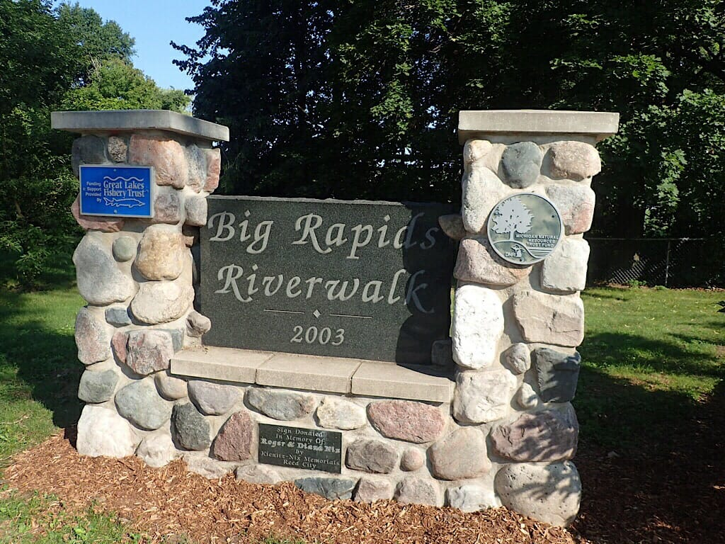 Big Rapids Riverwalk sign
