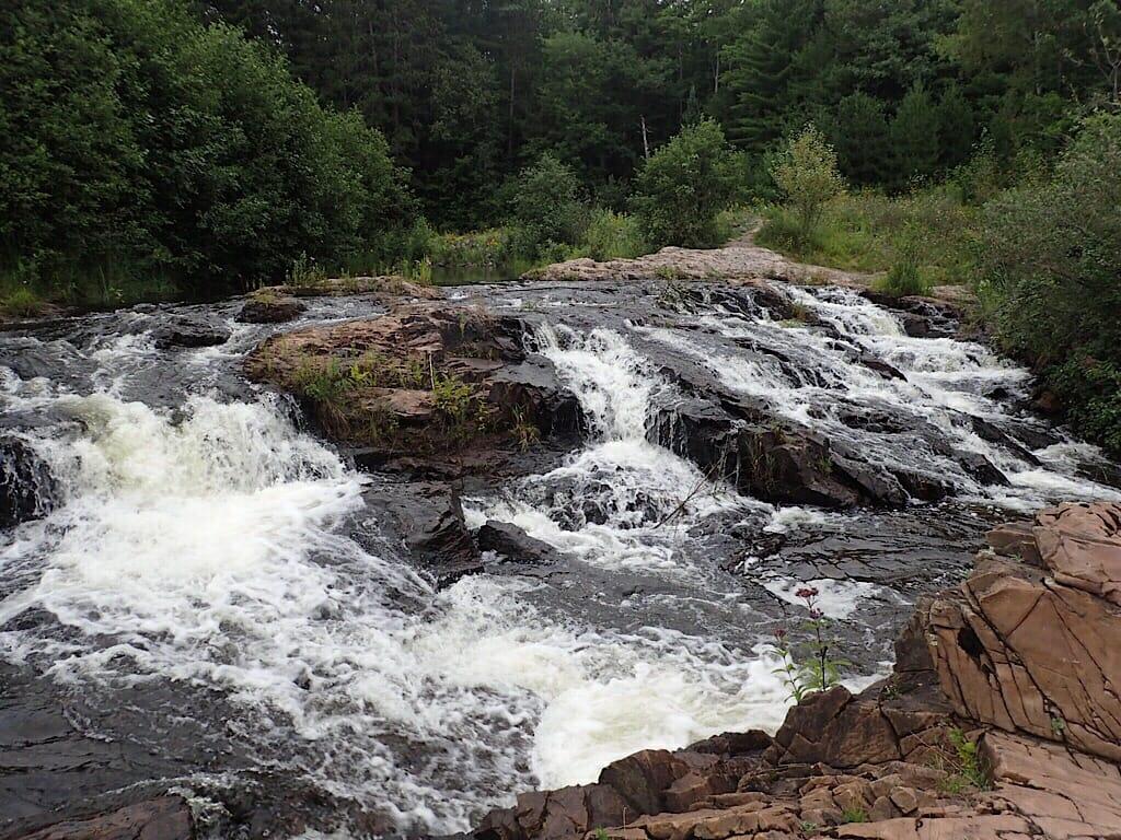 Falls along NTN North Trails Marquette