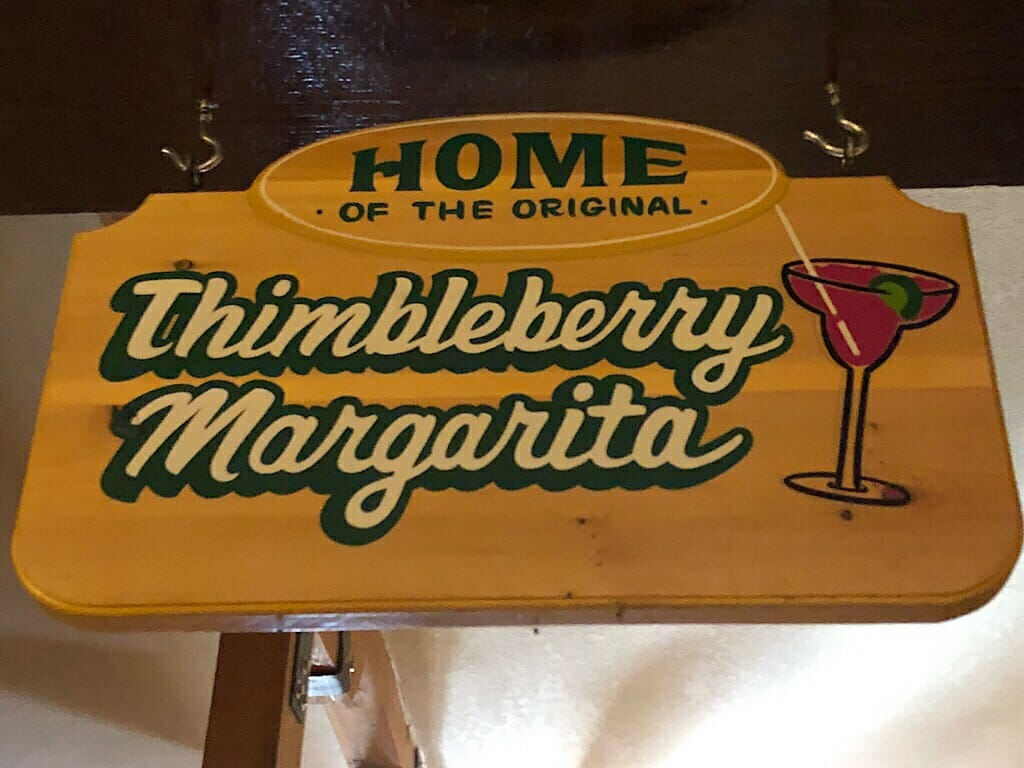 Thimbleberry margarita sign