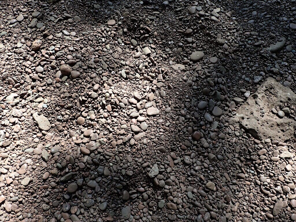Rocks and gravel