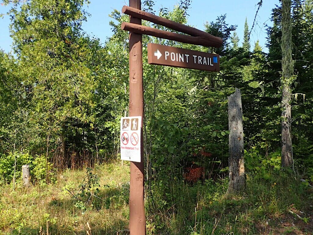 Point Trail sign