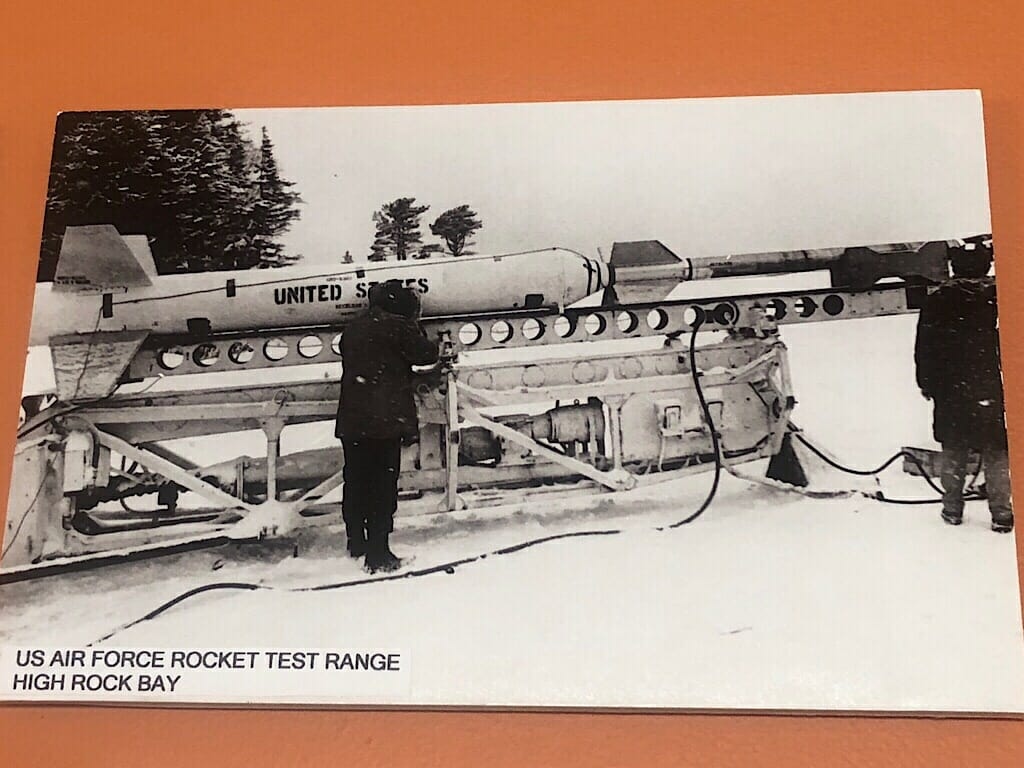 Keweenaw Rocket Range Historic photo