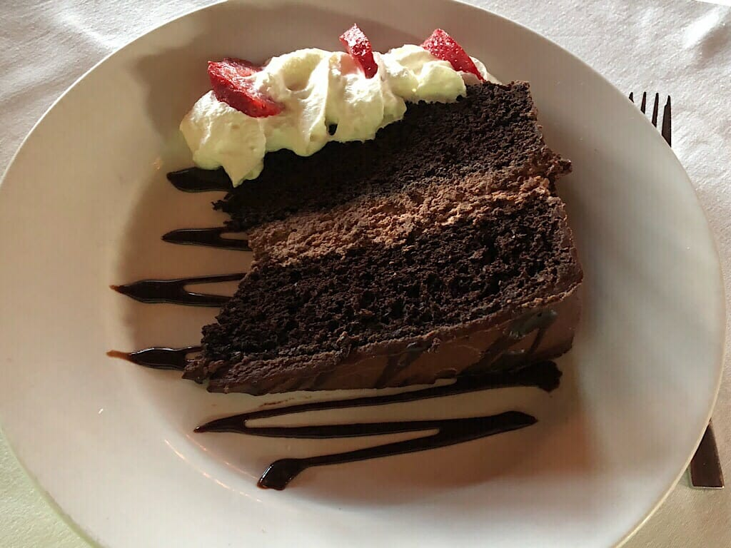 Cake at Mission Point Resort