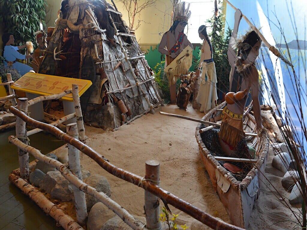 Ojibwa diorama