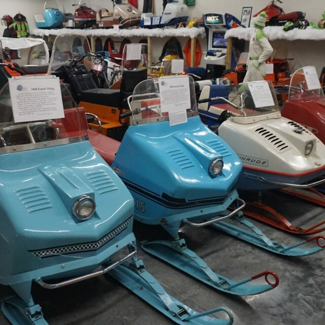 Antique Snowmobiles in Naubinway