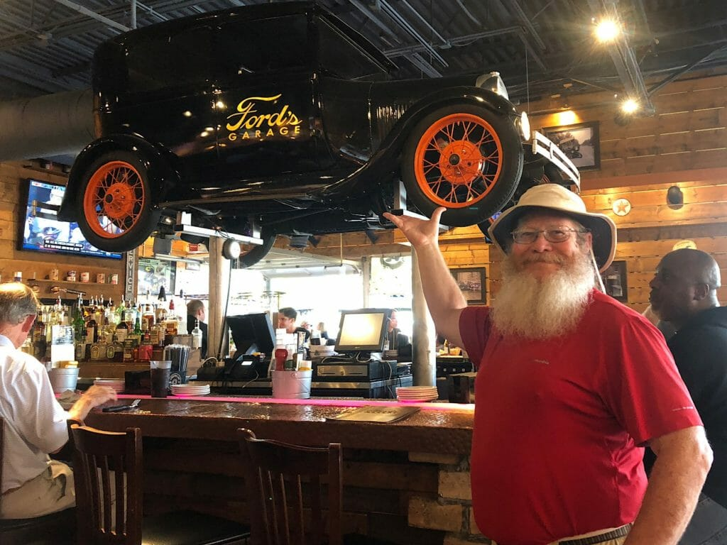 Ford's Garage Model T bar