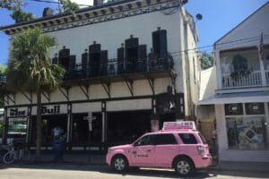 Key West pink taxi