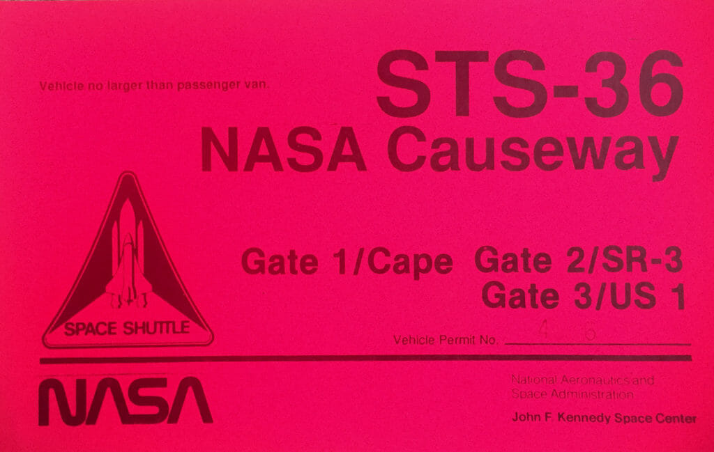STS-36 launch pass