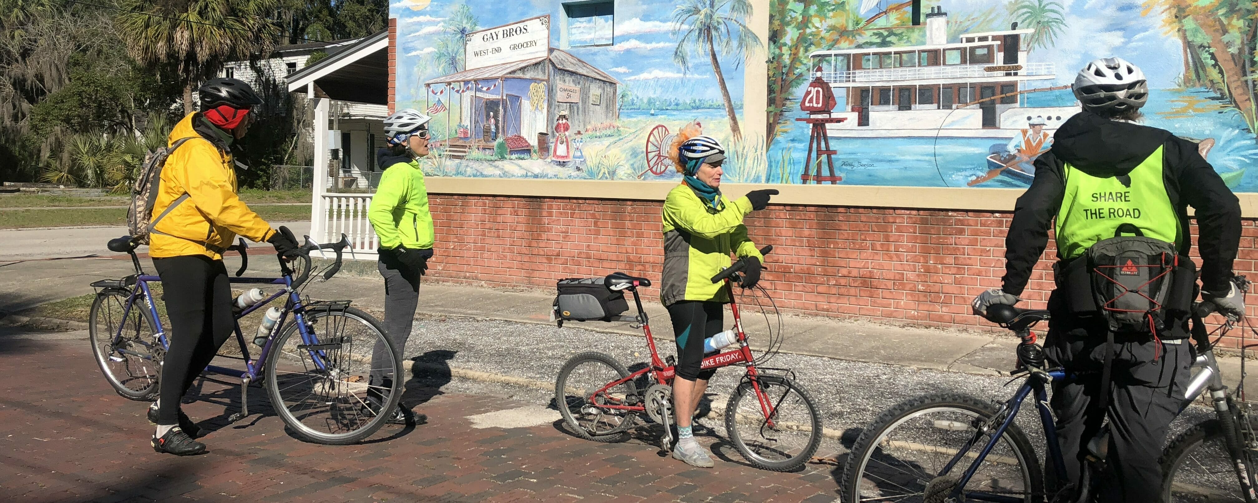 Biking on the Bartram Adventure Tour