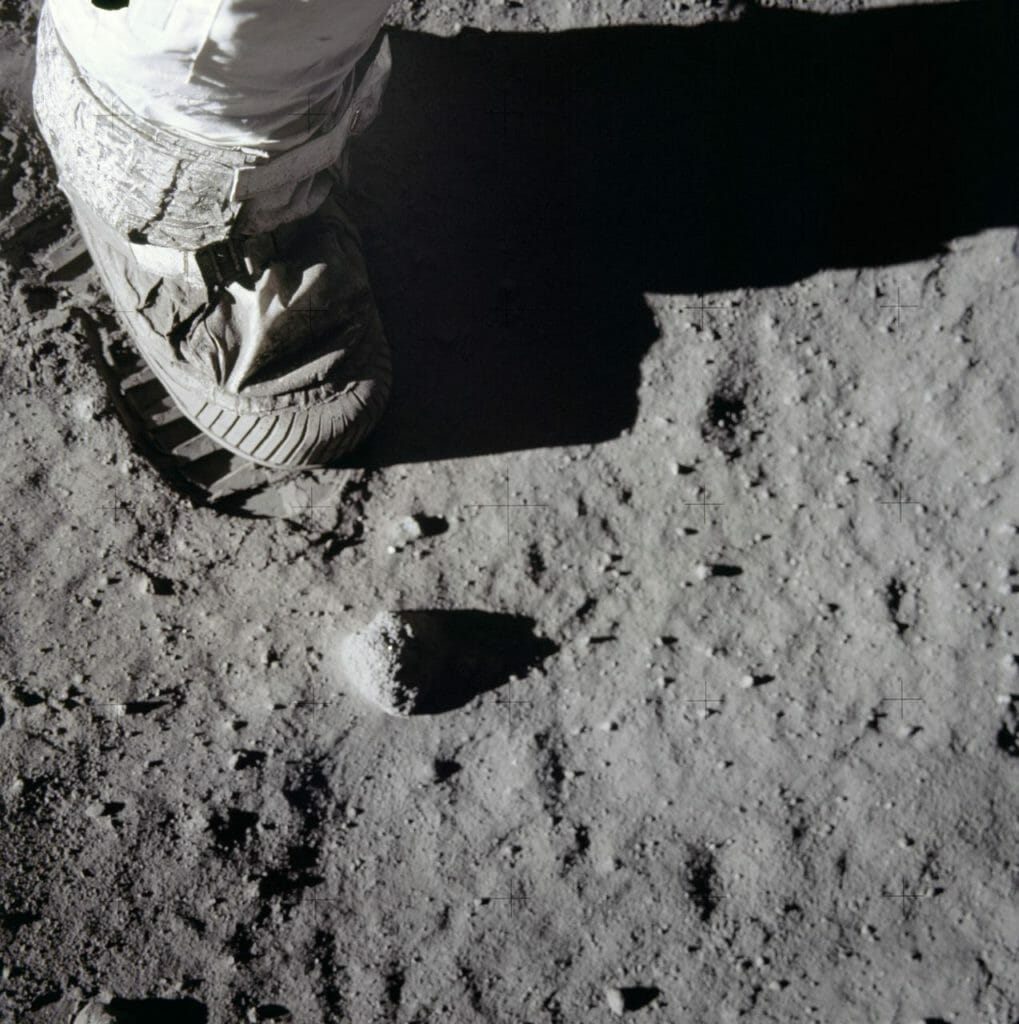 Apollo 11 bootprint NASA
