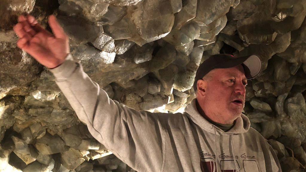 Ed Heineman at Crystal Cave