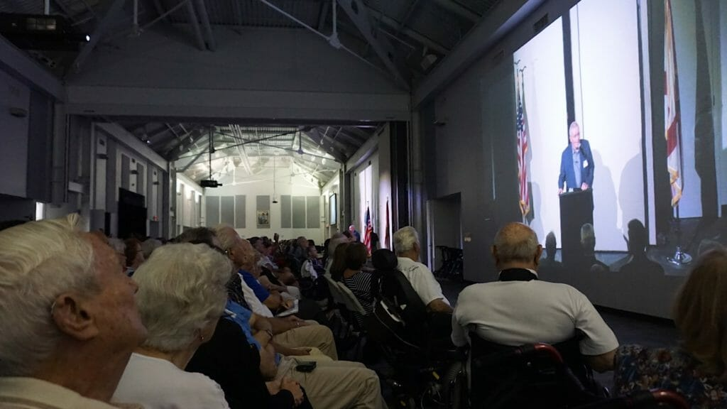 Fred Haise speaks at Apollo 11 reunion