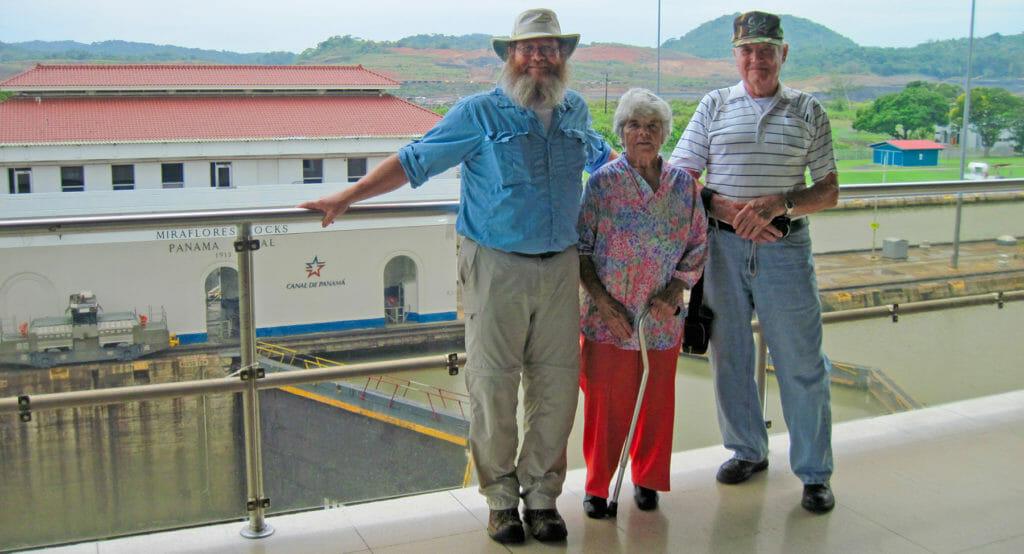 John and parents in Panama