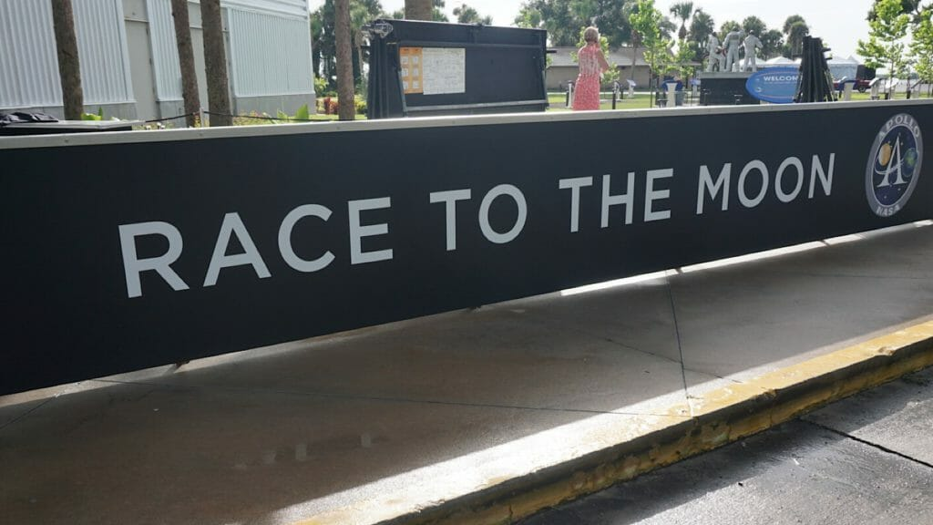 Race to the Moon sign