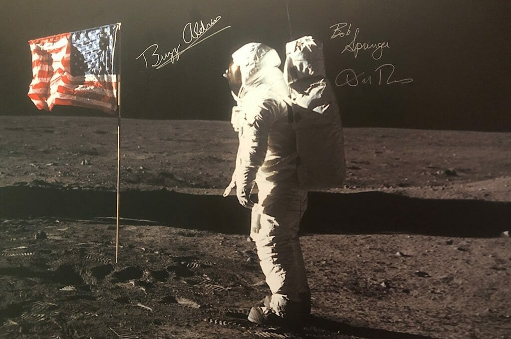 Buzz Aldrin photo Holiday Inn Express Wapakoneta