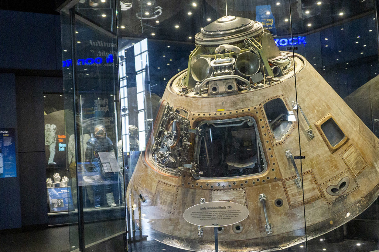 Apollo 14 capsule in museum