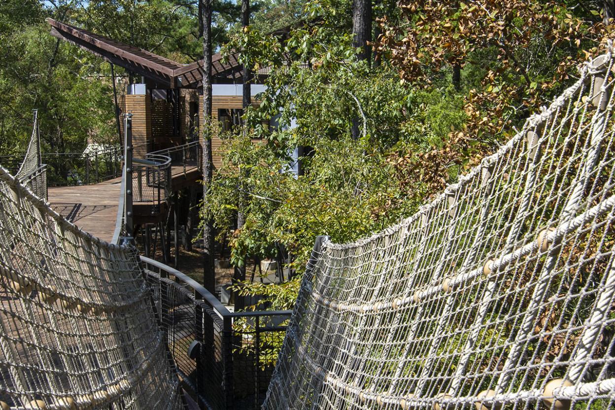 Rope bridge at the Mid-America Museum
