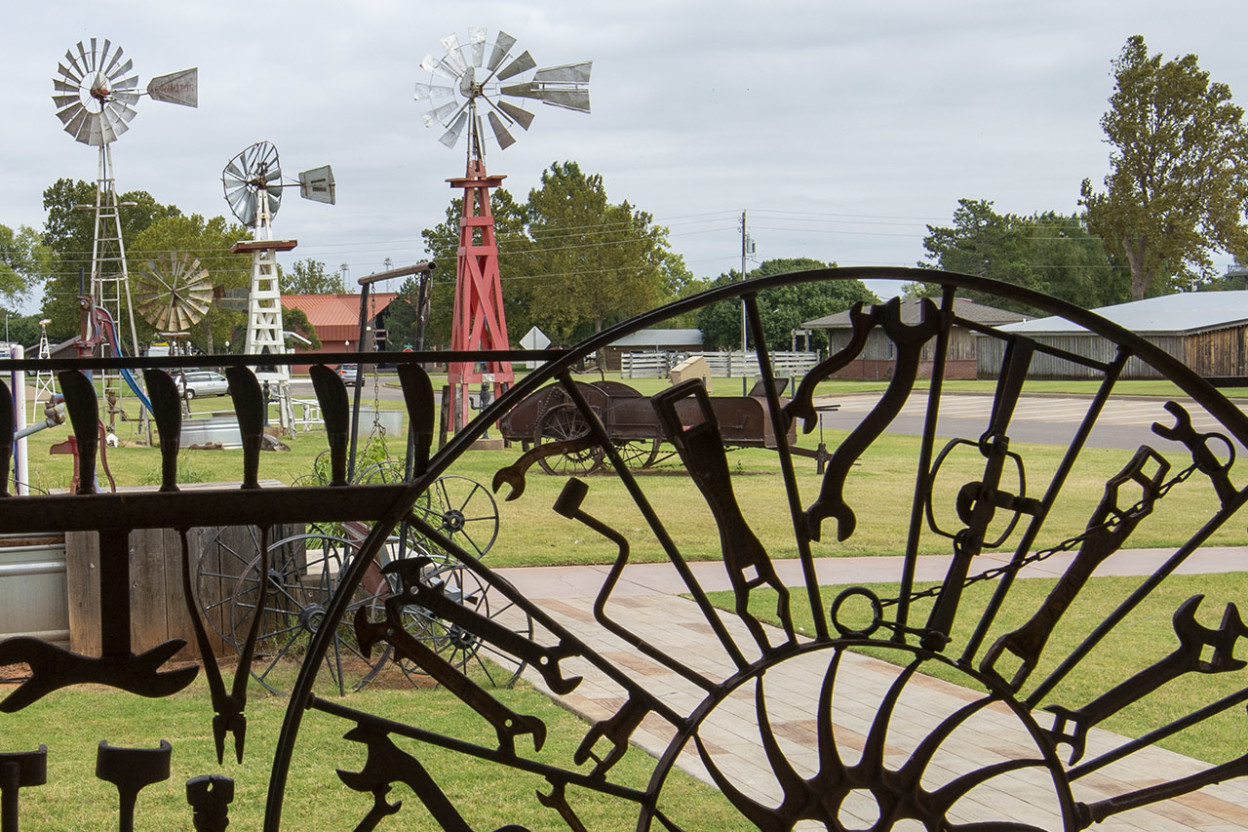 Folk art made of wrenches in Oklahoma