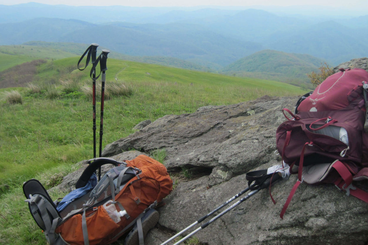 Backpacks on the Appalachian Trail
