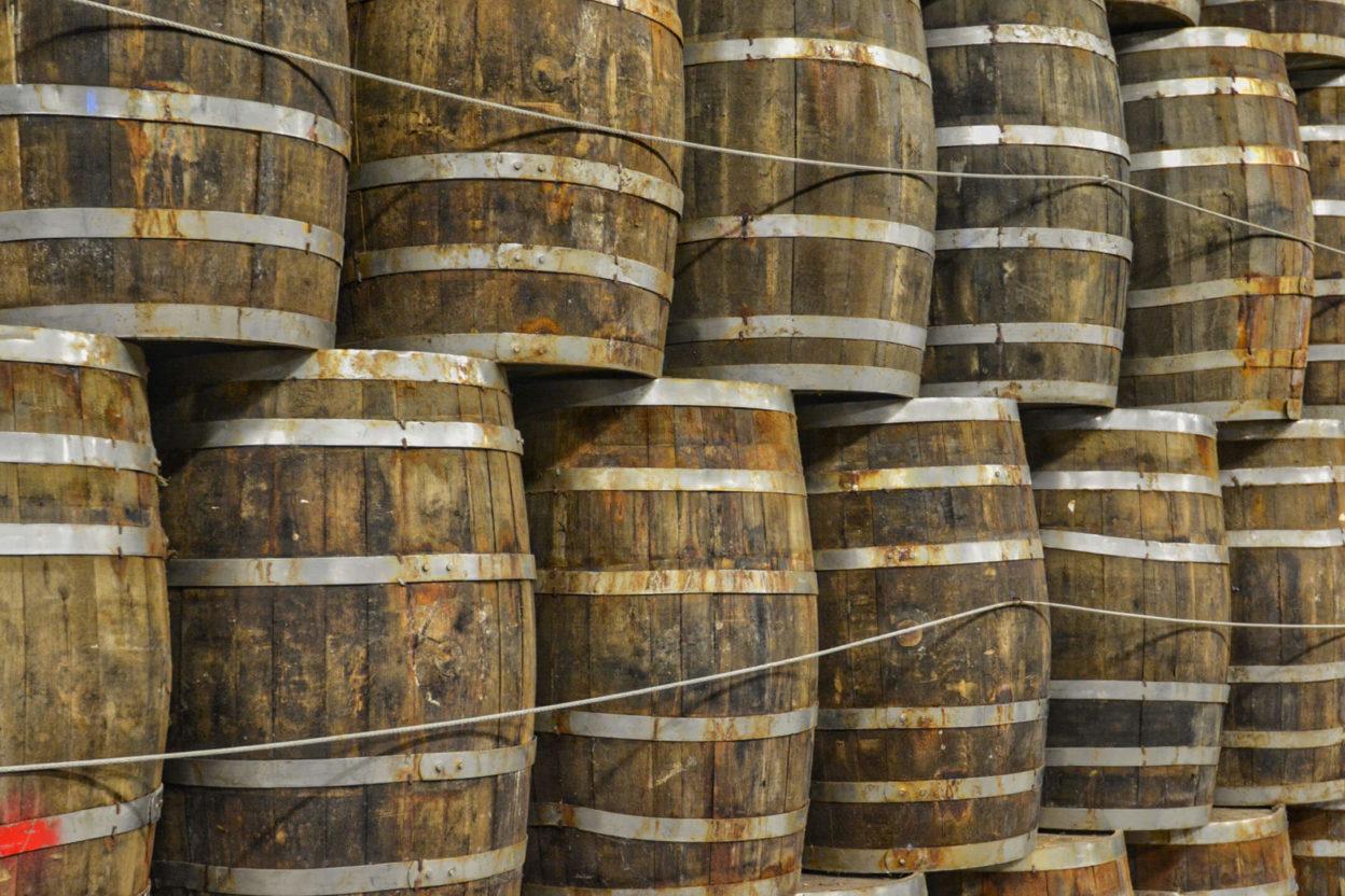 Tabasco wooden barrels