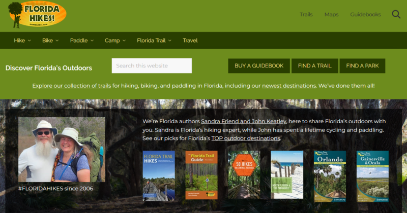 FloridaHikes.com front page