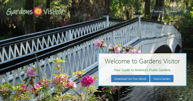 GardensVisitor.com front page