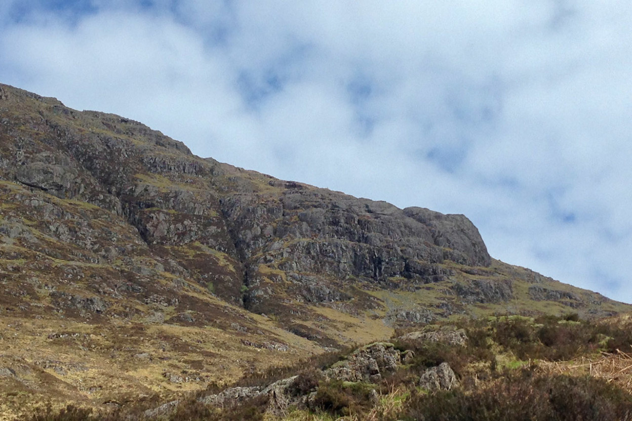 Dramatic mountains in the Scottish Highlands